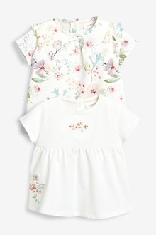 Next Floral T-Shirt Two Pack (0mths-2yrs)