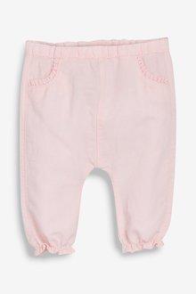 Next Linen Frill Bloomer Trousers (0mths-2yrs)