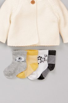 Next Animal Prints Socks Four Pack (Younger)