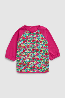 Next Floral Long Sleeved Dribble Proof Bib