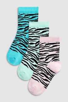 Next Tiger Print Socks Three Pack (Older)