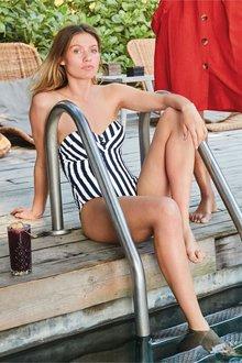 Next Stripe Bandeau Suit - 233600