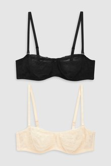 Next Jamie Non Padded Lace Bandeau Bras Two Pack