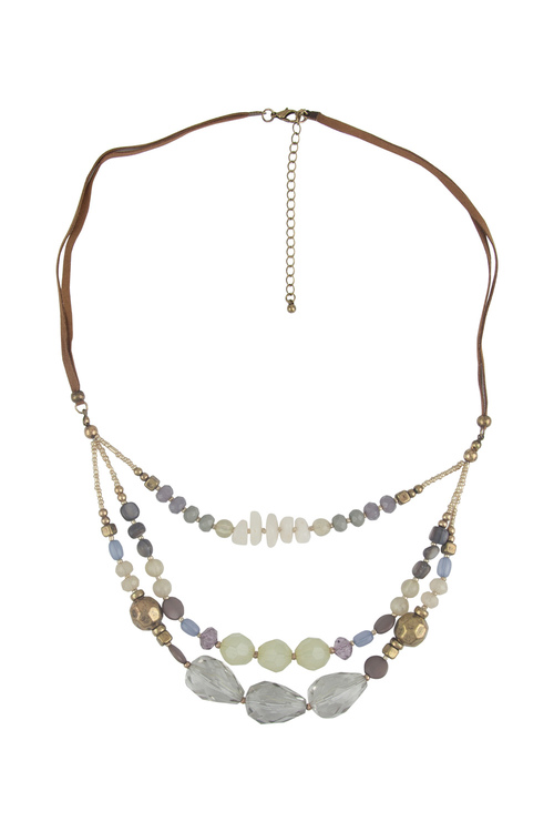 Amber Rose Multi Stone Necklace
