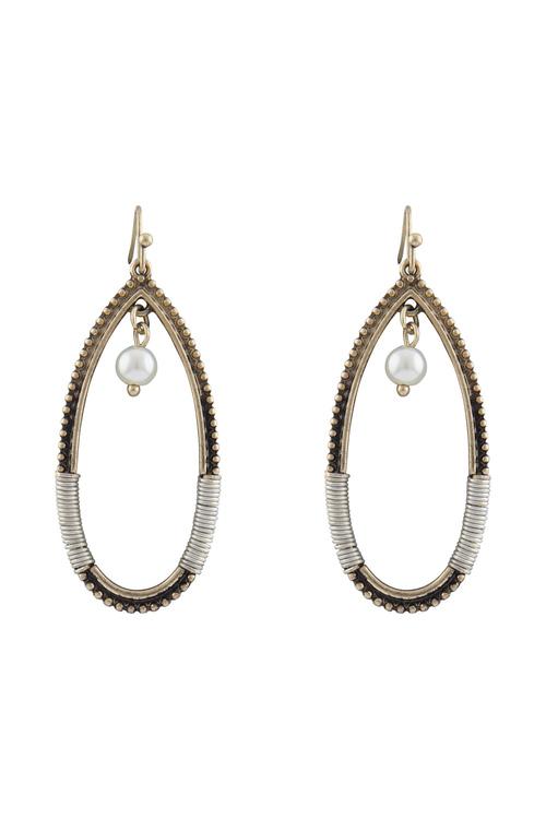 Amber Rose New Naturals Woven Hoop Earrings
