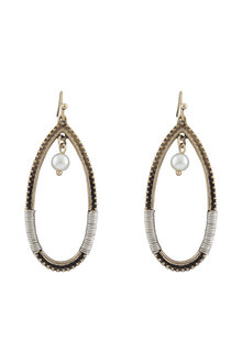 Amber Rose New Naturals Woven Hoop Earrings