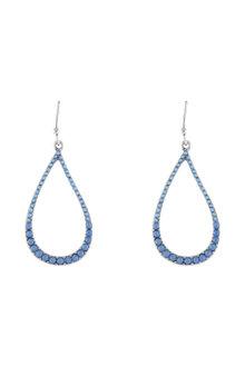 Amber Rose Teardrop Crystal Drop Earring
