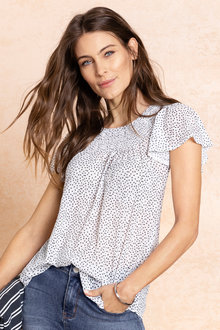 Capture Flutter Sleeve Top