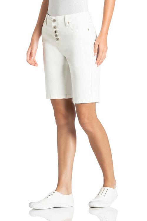 Capture Exposed Button Denim Shorts