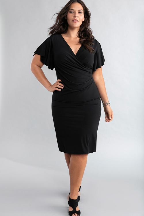 Plus Size - Sara Side Pleat Dress