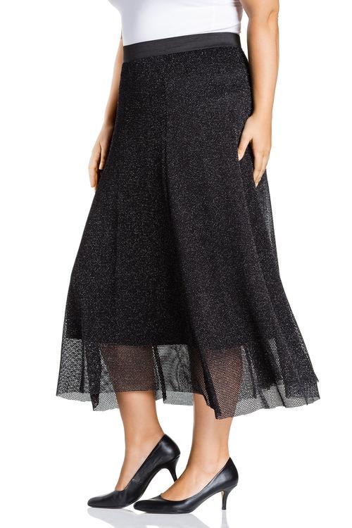 Plus Size - Sara Sparkle Knit Skirt