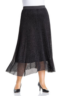 Plus Size - Sara Sparkle Knit Skirt - 233730