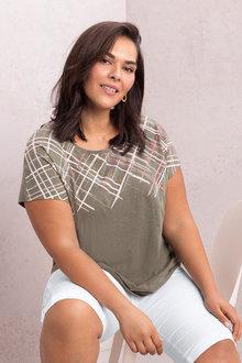 Plus Size - Sara Foil Print Tee