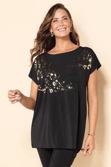 Plus Size - Sara Sequin Top