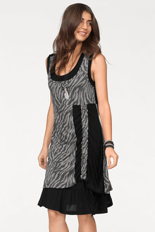 Urban Zebra Print Dress