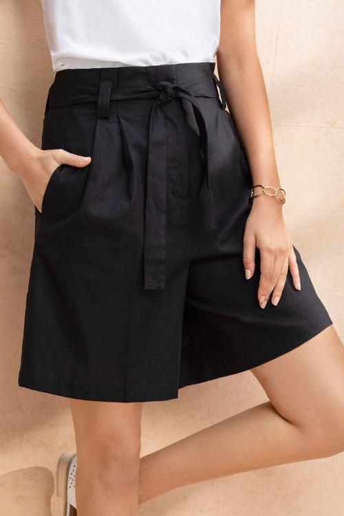 Emerge Linen Blend Shorts