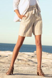 Emerge Linen Blend Shorts - 233806