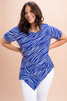 Plus Size - Sara Drape Panel Top