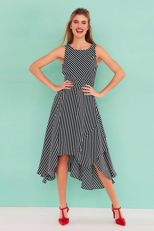 Heine Striped Fit and Flare Dress