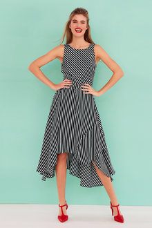 Heine Striped Fit and Flare Dress - 233819