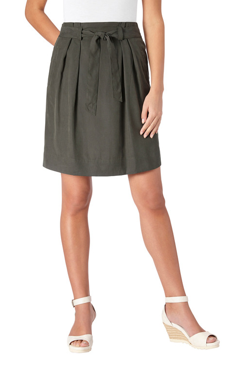 Euro Edit Pleat Front Skirt