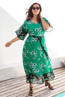 Plus Size - Sara Kimono Maxi