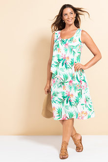 Plus Size - Sara Overlay Tank Dress - 233844