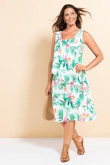 Plus Size - Sara Overlay Tank Dress - 233844