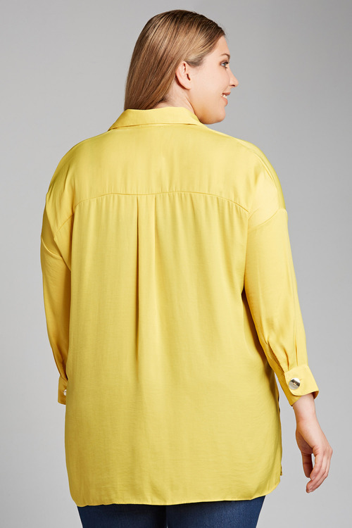 Plus Size - Sara Button Detail Shirt