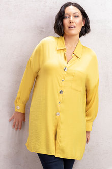 Plus Size - Sara Button Detail Shirt