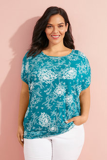 Plus Size - Sara Batwing Top - 233848