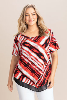 Plus Size - Sara V Hem Top - 233849
