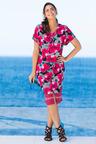 Plus Size - Sara V Neck Textured Knit Dress