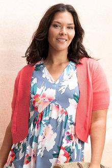 Plus Size - Sara Short Sleeved Cardi - 233852