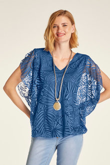 Heine Burnout Overlay Top - 233872