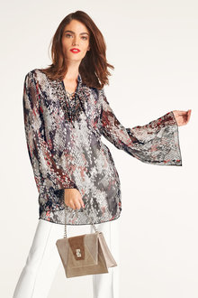 Heine Chiffon Beaded Top