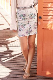 Heine Floral Jacquard Skirt - 233875