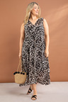 Plus Size - Sara Dress With Slip