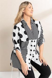 Plus Size - Sara Multispot Shirt