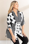 Plus Size - Sara Multispot Shirt