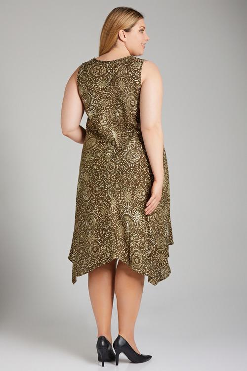 Plus Size - Sara Swing Drape Dress