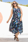 Plus Size - Sara Swing Drape Dress