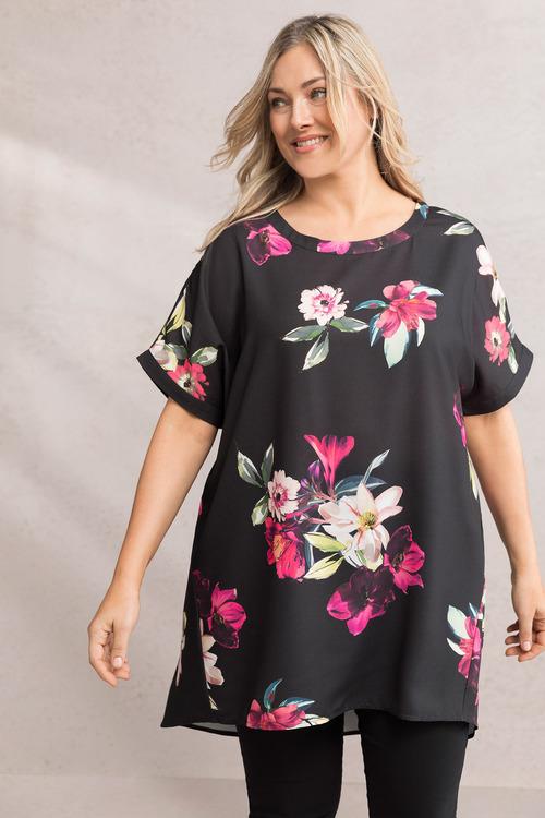 Plus Size - Sara Hi Low Tunic