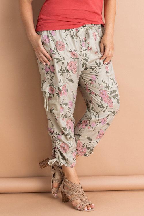Plus Size - Sara Ruched Hem Crop