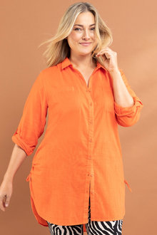 Plus Size - Sara Ruched Hem Shirt
