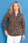Plus Size - Sara Cotton Voile Shirt