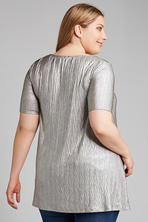 Plus Size - Sara Fine Pleat Stretch Top