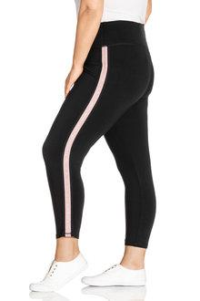 Plus Size - Sara Side Stripe Leggings