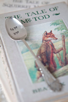 La De Da Living Vintage Stamped Teaspoon Baby Boy