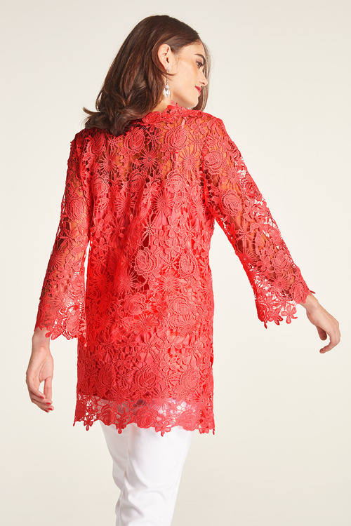 Heine Lace Over Longline Top